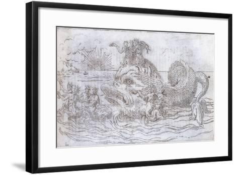 A Fantastical Fish Chariot, 1579--Framed Art Print