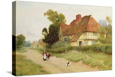 The Village Inn-Arthur Claude Strachan-Stretched Canvas Print