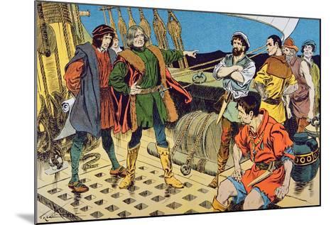 Columbus and His Mutinous Crew--Mounted Giclee Print