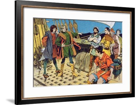 Columbus and His Mutinous Crew--Framed Art Print