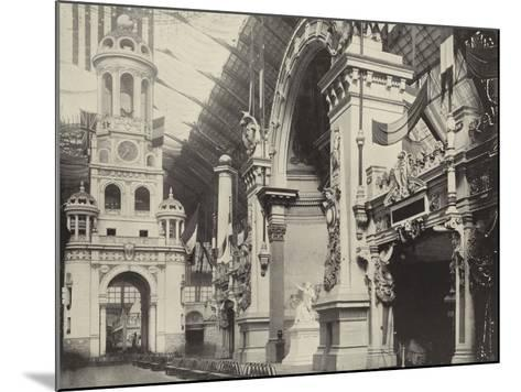 Clock-Tower and French Facade--Mounted Photographic Print