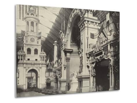 Clock-Tower and French Facade--Metal Print