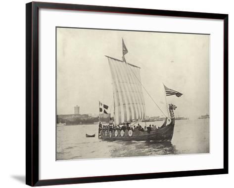 The Viking Ship--Framed Art Print