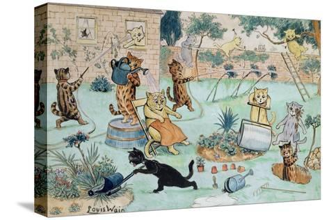 The Gardeners-Louis Wain-Stretched Canvas Print