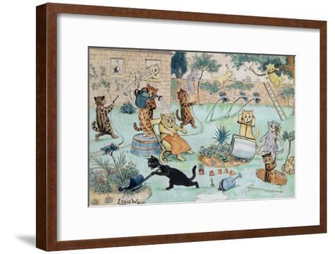 The Gardeners-Louis Wain-Framed Art Print