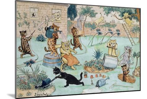 The Gardeners-Louis Wain-Mounted Giclee Print