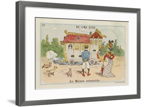 Mobile House in the Year 2000--Framed Art Print