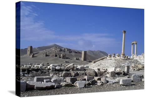 Diocletian's Camp and Tower Tombs, Palmyra--Stretched Canvas Print
