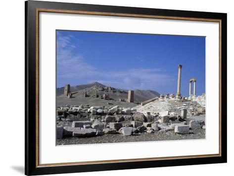 Diocletian's Camp and Tower Tombs, Palmyra--Framed Art Print