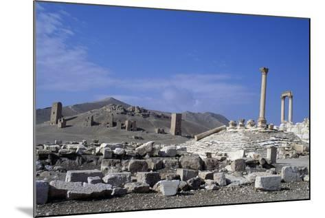 Diocletian's Camp and Tower Tombs, Palmyra--Mounted Photographic Print