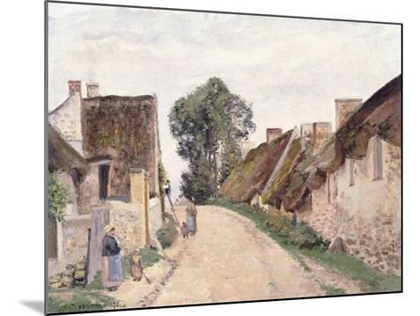Village Sstreet, Auvers-Sur-Oise, 1873-Camille Pissarro-Mounted Giclee Print
