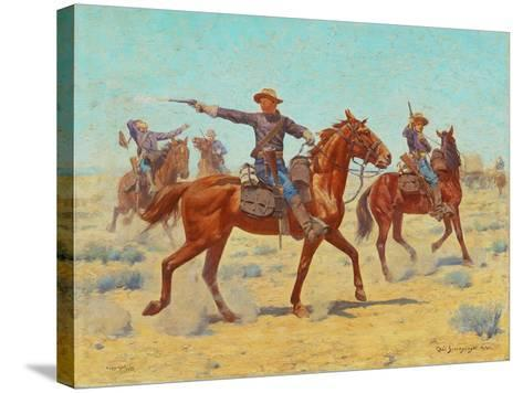 The Rear Guard, 1907-Charles Schreyvogel-Stretched Canvas Print