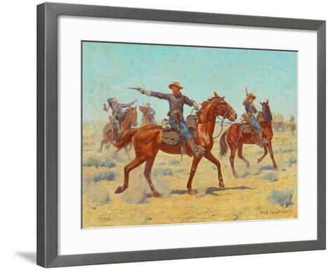 The Rear Guard, 1907-Charles Schreyvogel-Framed Art Print