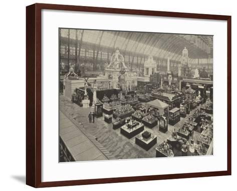 Bird'S-Eye View of the Austrian Section--Framed Art Print