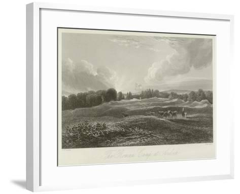 The Roman Camp at Ardoch--Framed Art Print