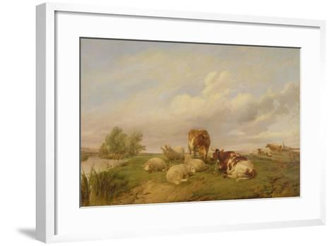 On Canterbury Meadows, 1861-Thomas Sidney Cooper-Framed Art Print