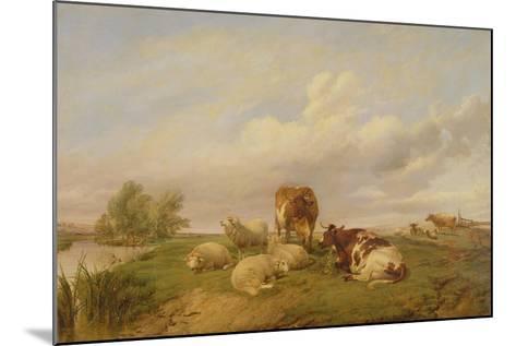 On Canterbury Meadows, 1861-Thomas Sidney Cooper-Mounted Giclee Print