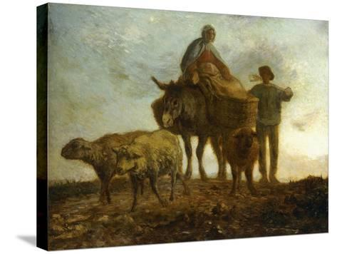 Return from the Fields-Jean-Fran?ois Millet-Stretched Canvas Print