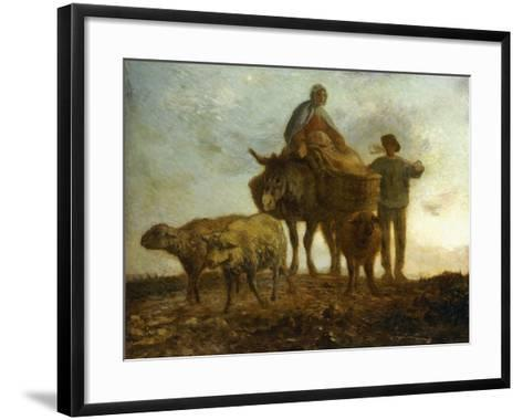 Return from the Fields-Jean-Fran?ois Millet-Framed Art Print