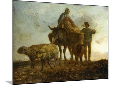 Return from the Fields-Jean-Fran?ois Millet-Mounted Giclee Print