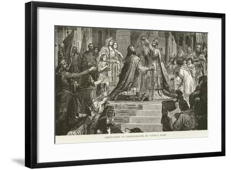 Coronation of Charlemagne, St Peter'S, Rome--Framed Art Print