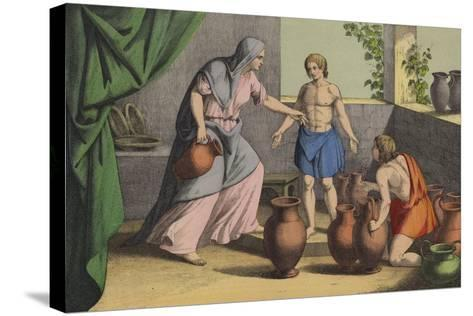 Elijah Multiplying the Widow's Oil--Stretched Canvas Print