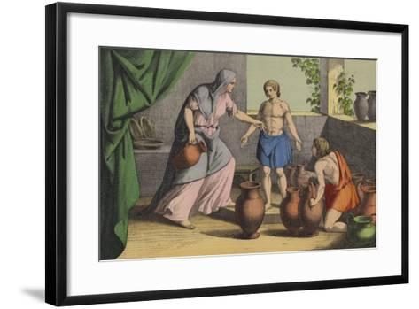 Elijah Multiplying the Widow's Oil--Framed Art Print