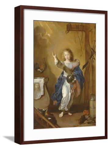 The Saviour of the World-Jean Daret-Framed Art Print