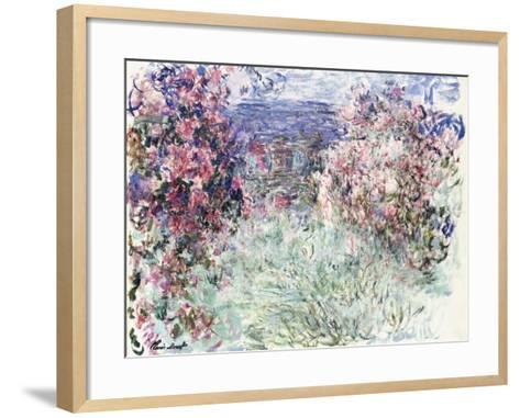 The House Among the Roses, 1925-Claude Monet-Framed Art Print