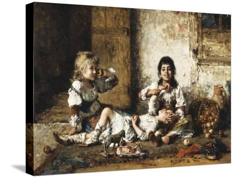 Happy Moments-Alexei Alexevich Harlamoff-Stretched Canvas Print
