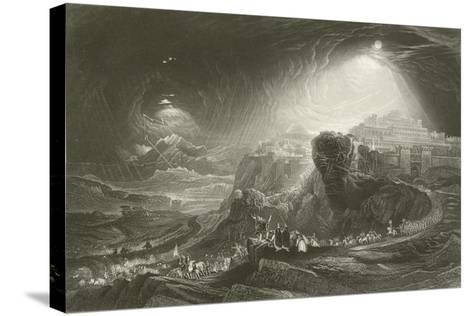 Joshua Summoning the Sun to Stand Still-John Martin-Stretched Canvas Print