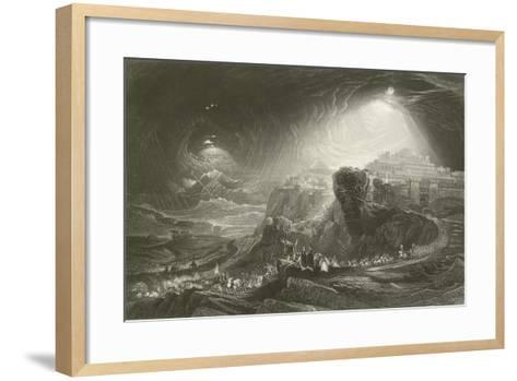 Joshua Summoning the Sun to Stand Still-John Martin-Framed Art Print