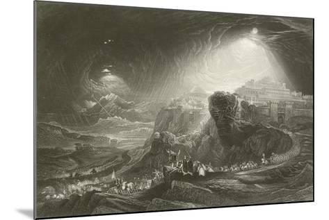 Joshua Summoning the Sun to Stand Still-John Martin-Mounted Giclee Print
