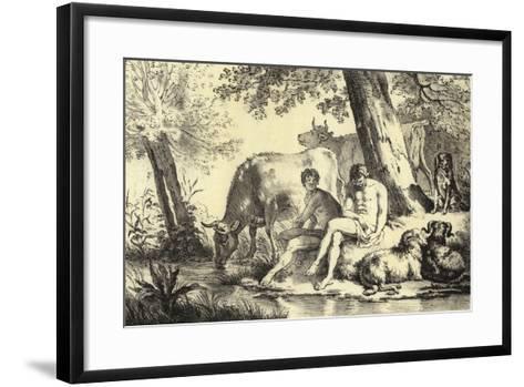 Riverbank Scene-Adriaen van de Velde-Framed Art Print