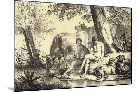 Riverbank Scene-Adriaen van de Velde-Mounted Giclee Print