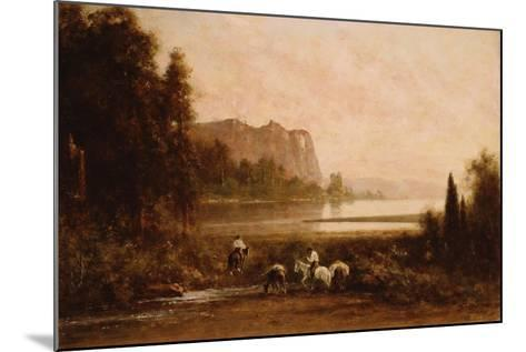 Trappers in Yosemite Mountains, 1899-Thomas Hill-Mounted Giclee Print