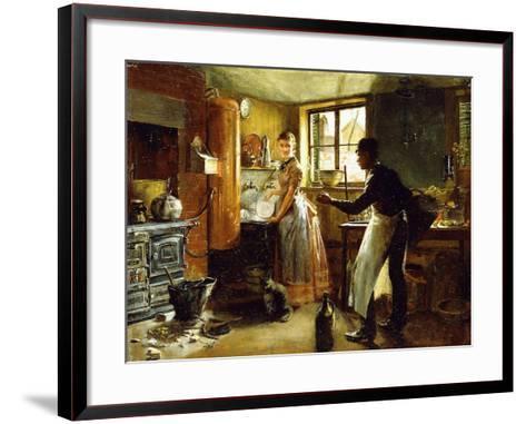 Below Stairs, 1885-Frederick Juengling-Framed Art Print