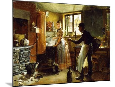 Below Stairs, 1885-Frederick Juengling-Mounted Giclee Print