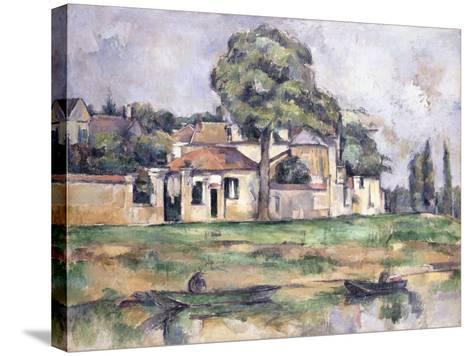 Banks of the Marne, 1888-Paul C?zanne-Stretched Canvas Print