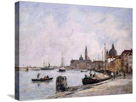 The Quay on Giudecca, Venice, 1895-Eug?ne Boudin-Stretched Canvas Print