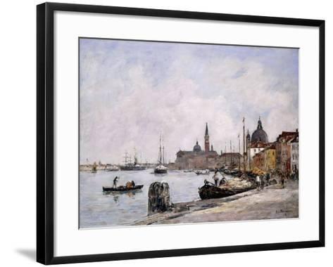 The Quay on Giudecca, Venice, 1895-Eug?ne Boudin-Framed Art Print