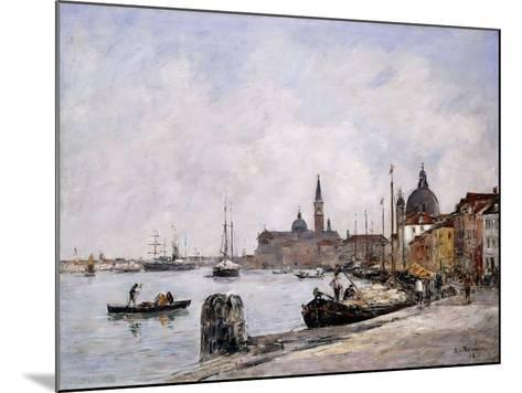 The Quay on Giudecca, Venice, 1895-Eug?ne Boudin-Mounted Giclee Print