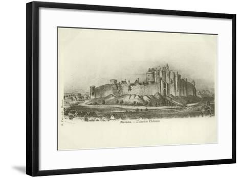 Marans, the Ancient Chateau--Framed Art Print