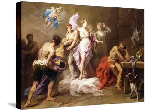 Venus Ordering Arms from Vulcan for Aeneas-Jean II Restout-Stretched Canvas Print