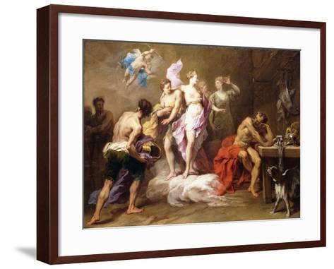 Venus Ordering Arms from Vulcan for Aeneas-Jean II Restout-Framed Art Print