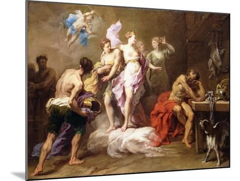 Venus Ordering Arms from Vulcan for Aeneas-Jean II Restout-Mounted Giclee Print
