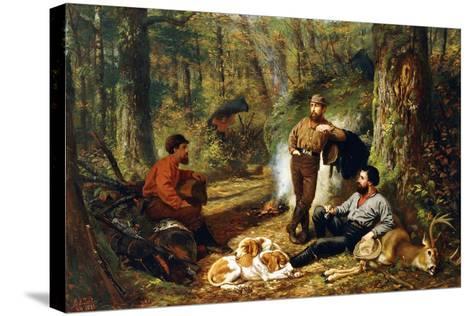Halt on the Portage, 1871-Arthur Fitzwilliam Tait-Stretched Canvas Print