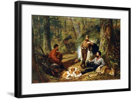 Halt on the Portage, 1871-Arthur Fitzwilliam Tait-Framed Art Print
