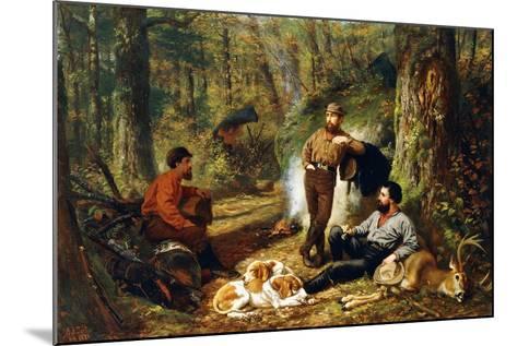 Halt on the Portage, 1871-Arthur Fitzwilliam Tait-Mounted Giclee Print