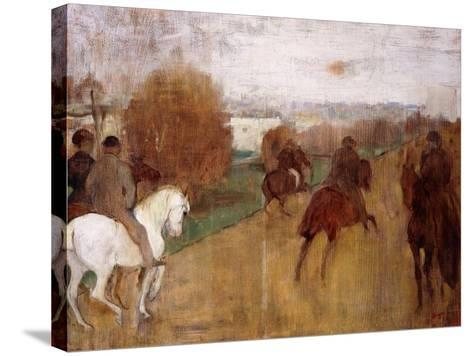 Horse Riders on a Road, 1864-68-Edgar Degas-Stretched Canvas Print